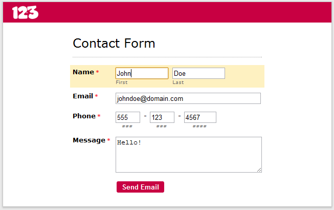 Build Your Online Contact Form! | Smashing Forms