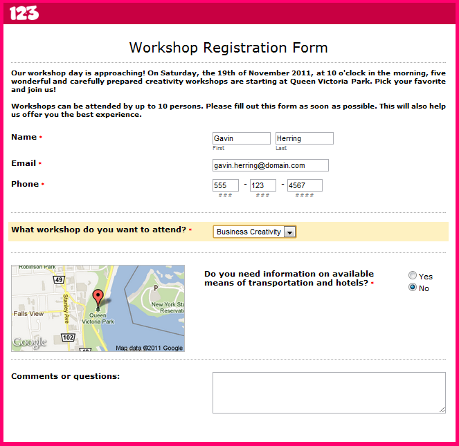 How to Build a Workshop Registration Form | Smashing Forms