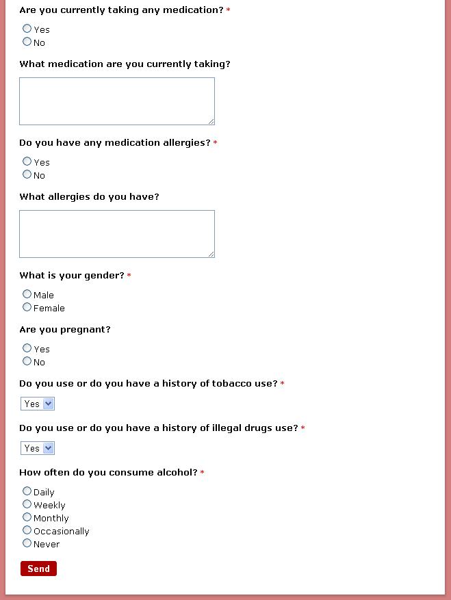 Build a Medical Online Form
