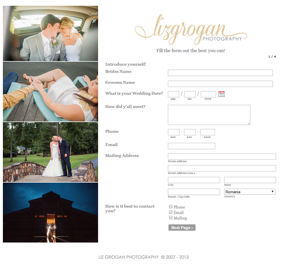 Forms For Photographers: Manage Your Photography Business
