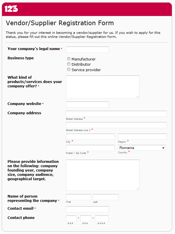When and How to Use a Vendor Registration Form – Vendor Registration Form