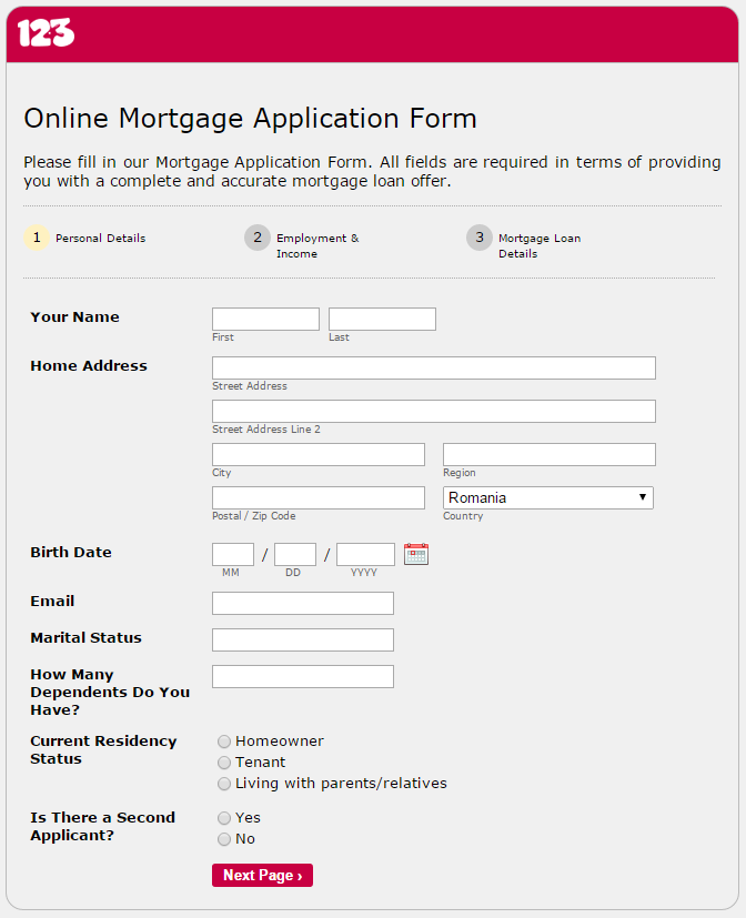 mortgage application form Give People Their Dream House Through The Online Mortgage ...